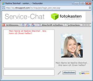 supportchat Fotokasten