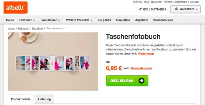 Albelli Taschenfotobuch