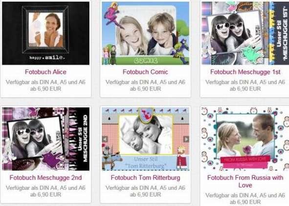 Auswahl Designs Fotobuch Fambooks