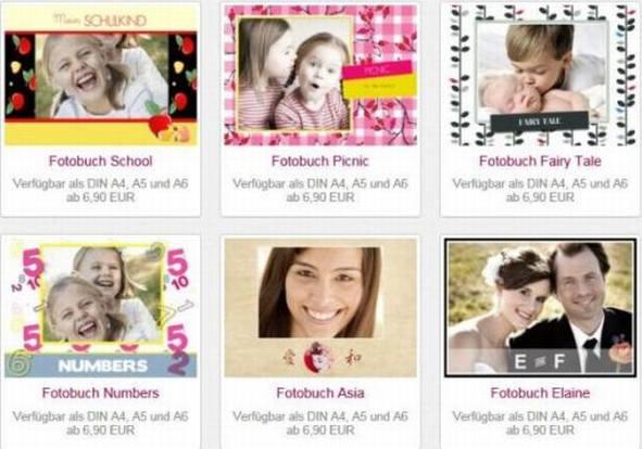 Fambooks Fotobuch Auswahl Designs