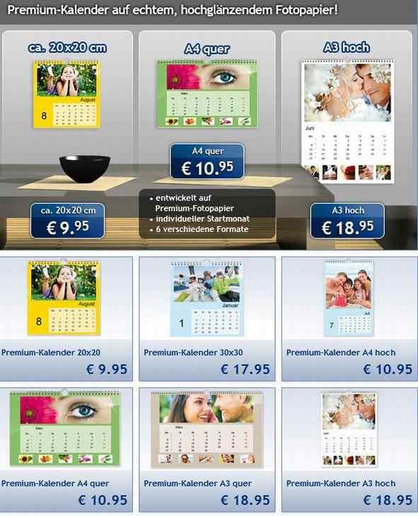 Auswahl Lidl Fotokalender 2014