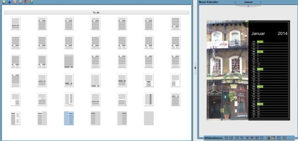 Auswahl Layouts