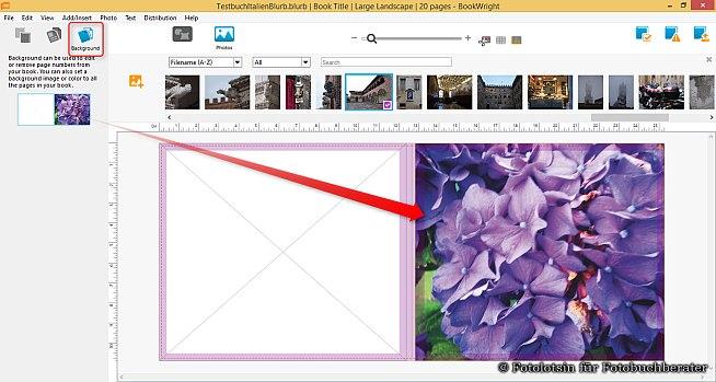 Blurb Fotobücher Hintergrund