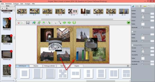 Canon Fotobuch Bilder hinzufügen