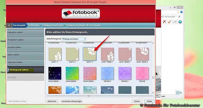 DigitalfotoVersand Fotobuch Hintergrund