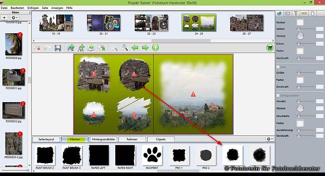 DigitalfotoVersand Fotobuch Masken