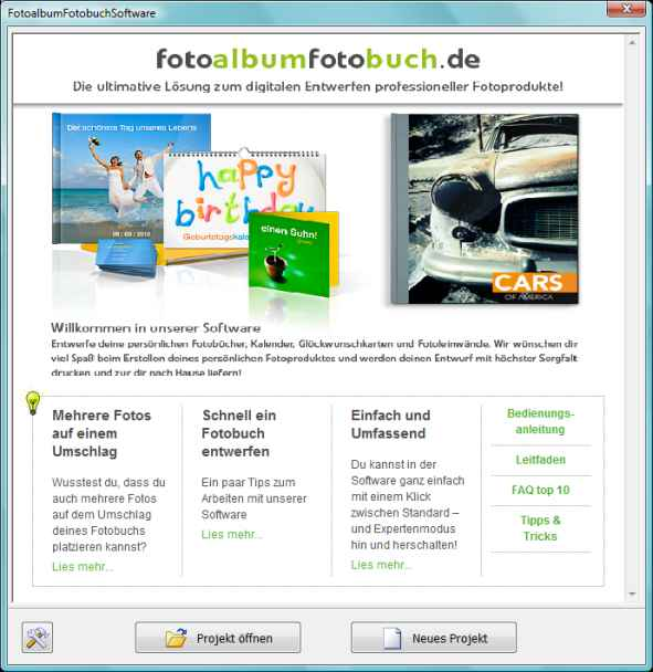 Fenster nach Download - Fotoalbumfotobuch