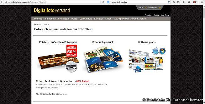 Fotobuch online bestellen bei Foto Thun