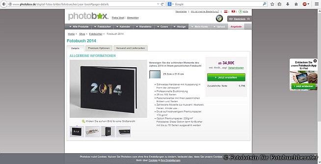 Fotobücher Photobox
