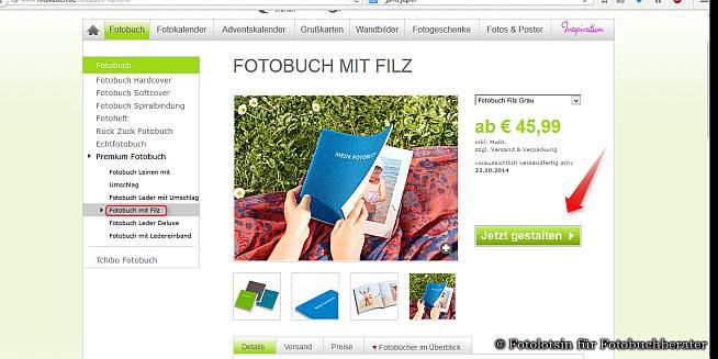 Fotokasten HP Übersicht Filzeinband