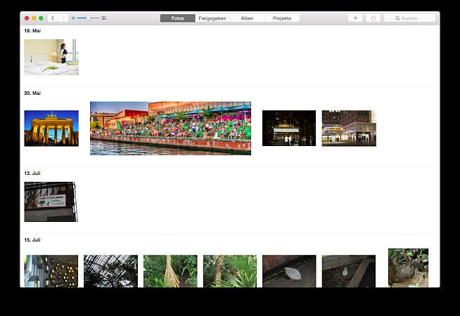 Fotos für das Fotobuch mit dem Mac sortieren