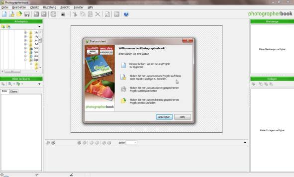 Gestaltung Photographerbook Software