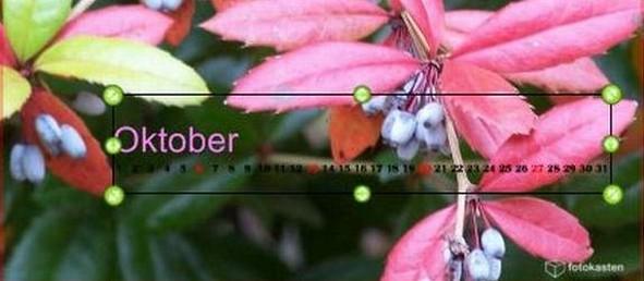 Kalendarium Fotokasten bearbeiten
