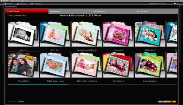 Fotobuch Kodak Produktauswahl