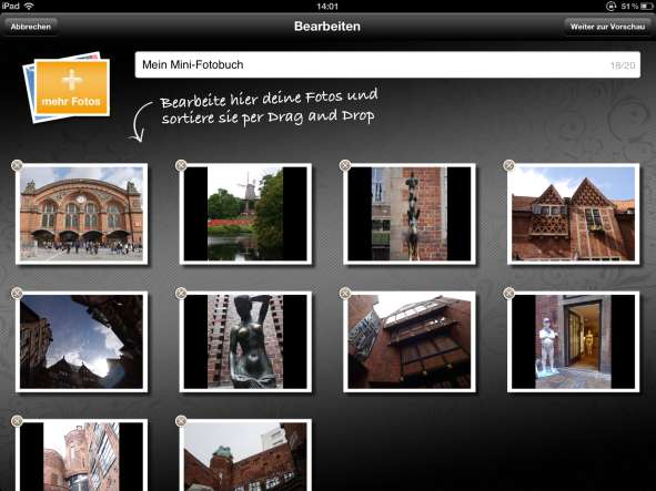 Minifotobücher Clixxie Screenshot