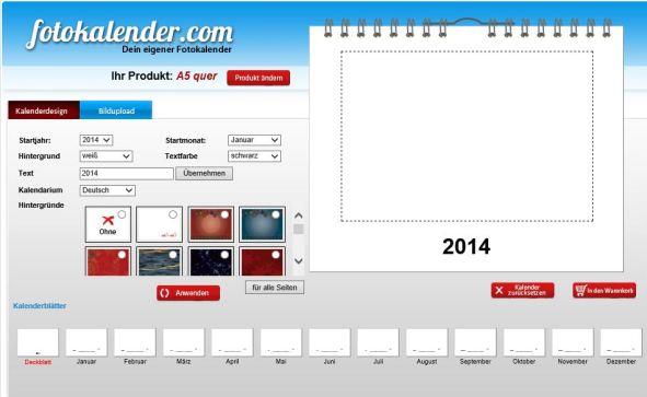 Online Editor Fotokalender.com