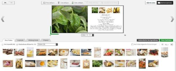 Onlineeditor Auswahl Fotoarchiv photobox