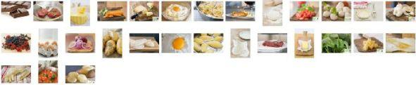 Onlineeditor Auswahl Kochbuch Zutaten