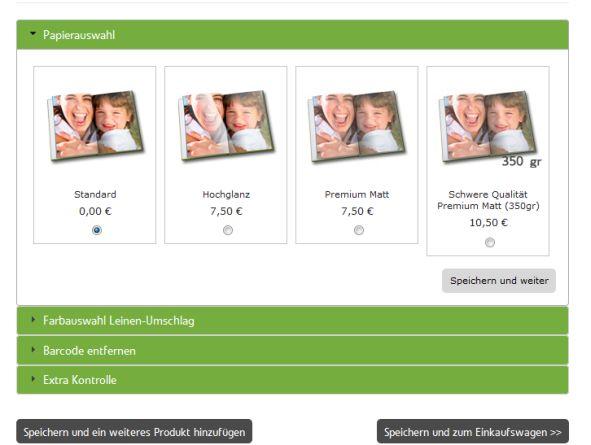 Papierwahl Fotobuch Fotoalbumfotobuch