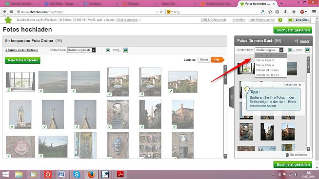 Photobox Foto hochladen