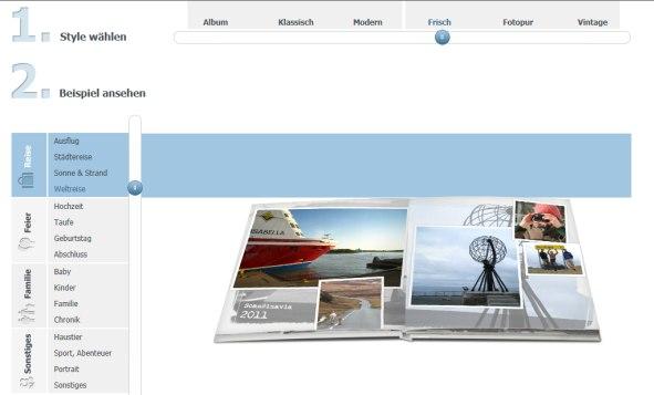 Pixpremium Fotobuch erstellen lassen Stilauswahl