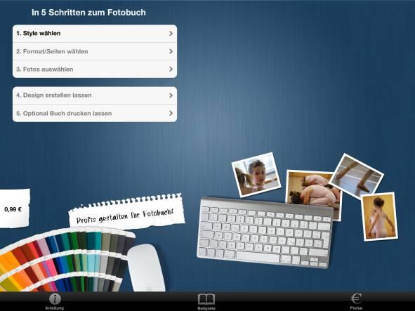So sieht die App von Pixpremium auf dem iPad aus.