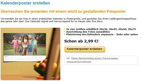 Fotokalender Snapfish Kalenderposter