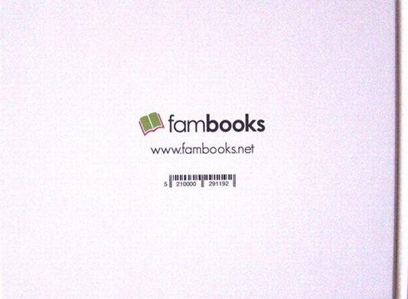 Rueckcover Fambooks Fotobuch mit Logo