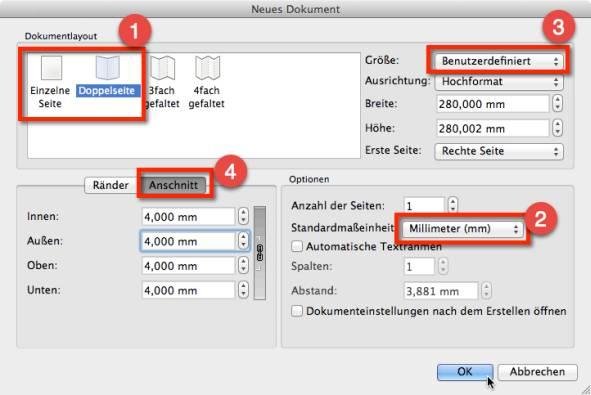 Scribus Erste Schritte Dateianlage