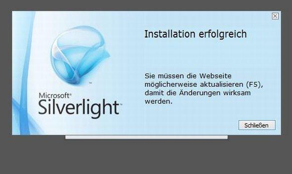 Silverlight installieren