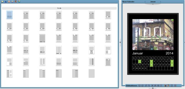 Software Auswahl Layouts