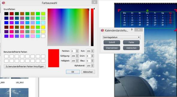 Software Bearbeitung Kalendarium Rossmann