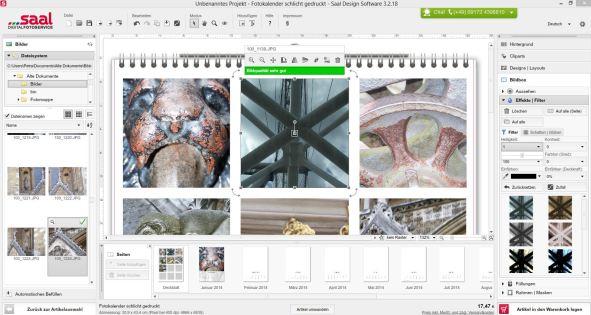 Software Bearbeitungsfenster Bildbearbeitung