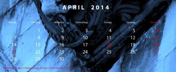 Software Bearbeitungsfenster Kalendarium Detail