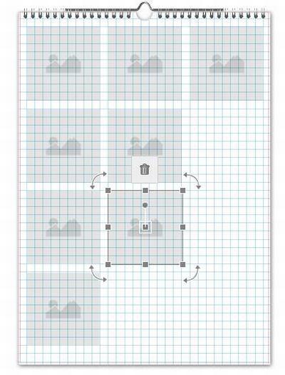 Software Bearbeitungsfenster Raster Bildboxen
