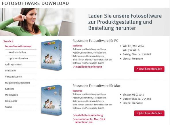 Software Download Rossmann Fotowelt