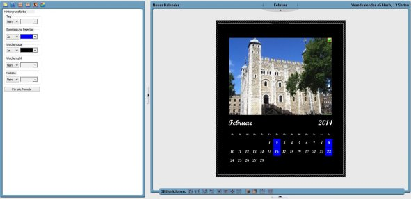 Software Kalendariumbearbeitung