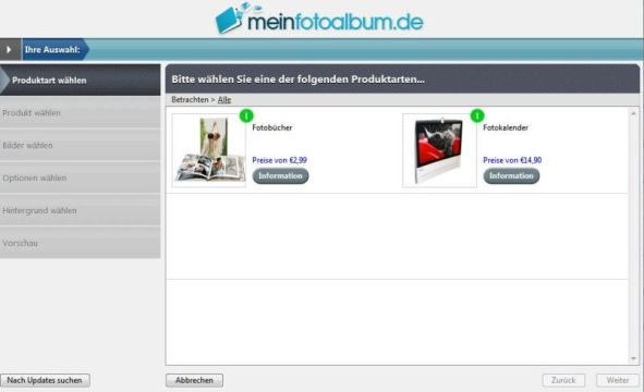 Software Produktauswahl