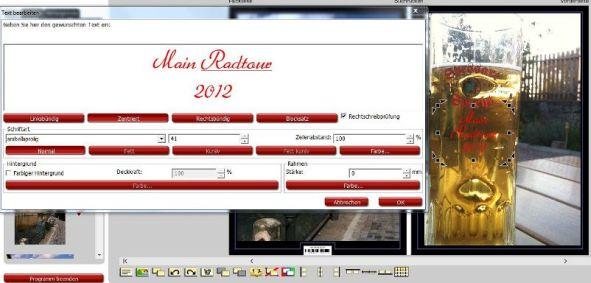 Textbearbeitung Fotokalender Rossmann