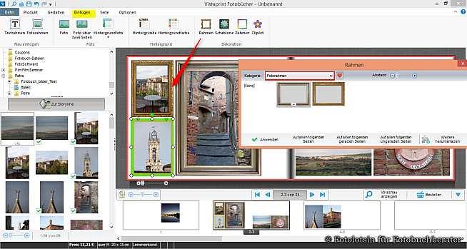 Vistaprint Rahmen