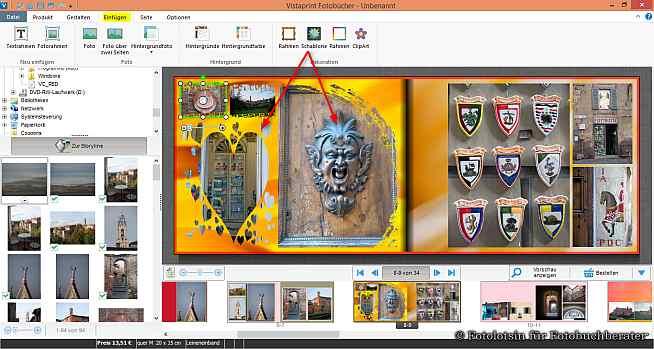 Vistaprint Fotobücher Schablonen
