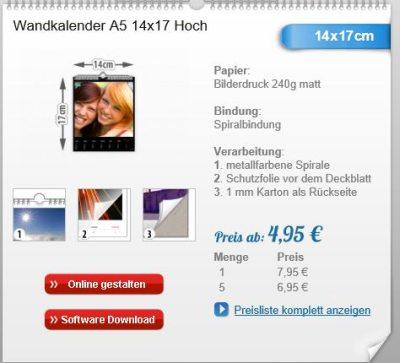 Wandkalender A5 von Fotokalender.com
