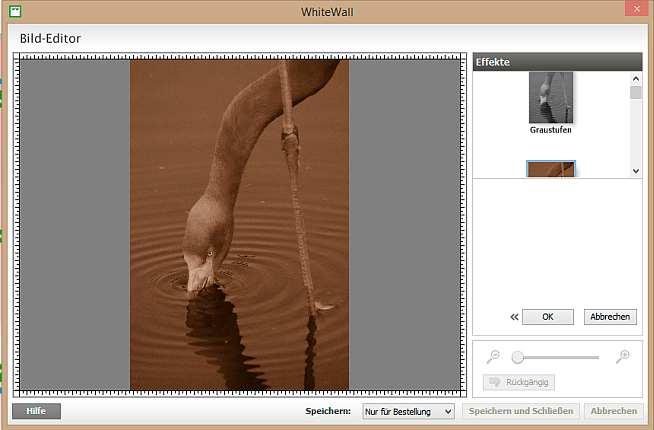 WhiteWall Fotobuch Bild Editor