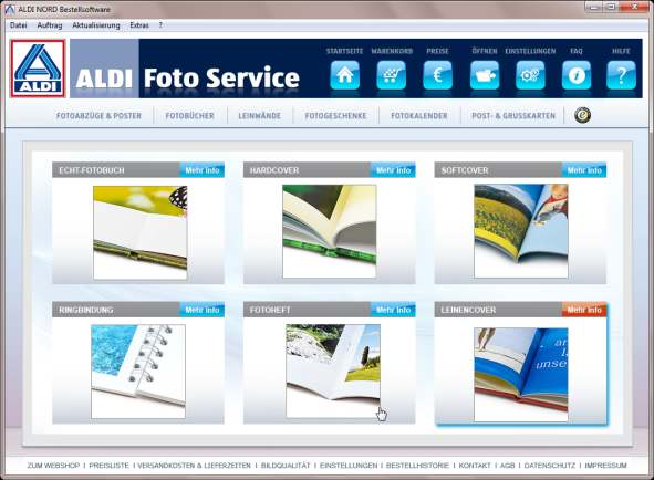aldi fotobuch software