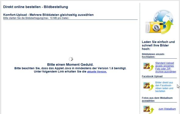 Aldi Kalender Onlineerstellung Fehler