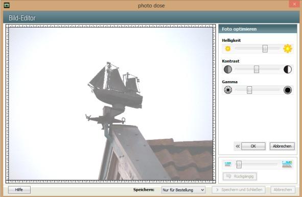 Bildbearbeitung Helligkeit ipLabs