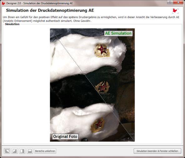 bildoptimierung fotobuch.de AE Simulation