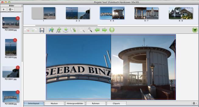 fotobook.de Studiobuch Assistent Ergebnis