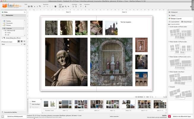 fotofoto Fotobuch Assistent Ergebnis