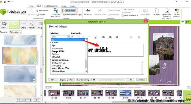 fotokasten Textbox